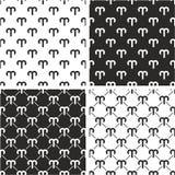 Segno Aries Seamless Pattern Set dello zodiaco Immagini Stock