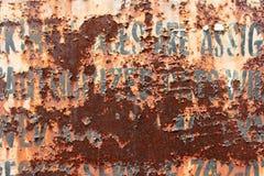 Segno arrugginito Fotografia Stock Libera da Diritti