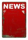 Segno arrugginito di notizie Fotografia Stock
