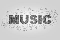 Segno astratto di musica Illustrazione di Stock