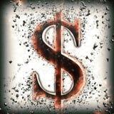 Segno astratto del dollaro Fotografia Stock Libera da Diritti