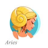 Segno astrologico del Aries Immagine Stock Libera da Diritti