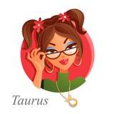 Segno astrologico del Taurus Fotografia Stock Libera da Diritti