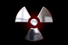 Segno attento metallico - radiazione illustrazione di stock