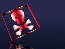 Segno attento, sostanza tossica, veleno. Fotografia Stock Libera da Diritti
