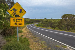 Segno australiano dell'incrocio della fauna selvatica Fotografie Stock
