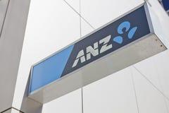Segno australiano della banca di ANZ Fotografia Stock Libera da Diritti