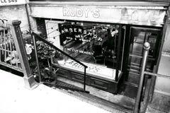 Segno, Barber Shop, New York, U.S.A. fotografia stock libera da diritti