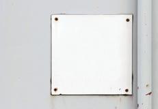 Segno in bianco Fotografia Stock