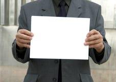 Segno in bianco Fotografie Stock Libere da Diritti