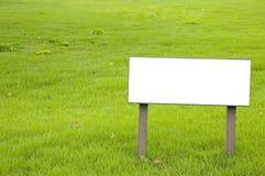 Segno in bianco Fotografie Stock