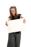 Segno bianco in bianco Fotografie Stock