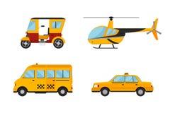 Segno bianco city truck van cargo dell'icona di giallo di trasporto isolato taxi della carrozza ferroviaria del fondo dell'illust Fotografia Stock
