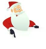 Segno in bianco del Babbo Natale Fotografia Stock