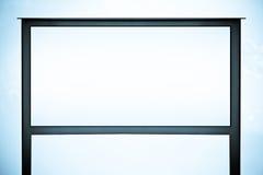 Segno in bianco del tabellone per le affissioni con vuoto Fotografie Stock