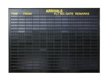 Segno in bianco dell'aeroporto Fotografia Stock