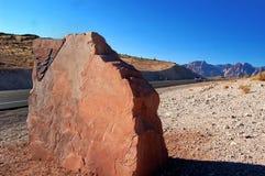 Segno in bianco della roccia Fotografie Stock Libere da Diritti