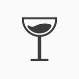 Segno in bianco e nero del bicchiere di vino Fotografia Stock Libera da Diritti