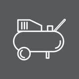 Segno in bianco e nero del compressore Immagini Stock Libere da Diritti