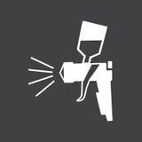 Segno in bianco e nero dell'aerografo Fotografia Stock Libera da Diritti