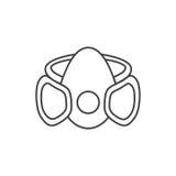 Segno in bianco e nero della maschera Immagine Stock Libera da Diritti