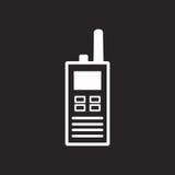 Segno in bianco e nero della radio portatile Immagine Stock