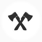 Segno in bianco e nero delle asce Fotografie Stock