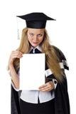 Segno in bianco - laureato Immagine Stock Libera da Diritti