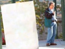 Segno in bianco protesta/di Ralley Immagini Stock