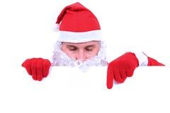 Segno in bianco - Santa (su bianco) Fotografia Stock Libera da Diritti