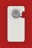 Segno in bianco sul portello dell'hotel Fotografie Stock Libere da Diritti