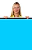 Segno blu Fotografie Stock Libere da Diritti