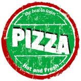 Segno/bollo della pizza Fotografie Stock Libere da Diritti