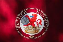 Segno britannico delle ferrovie Fotografie Stock Libere da Diritti
