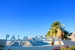 Segno California S.U.A. del Palm Springs immagini stock libere da diritti