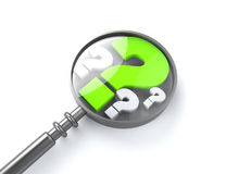 Segno Cercare verde di guestion illustrazione vettoriale