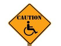 Segno che indica che le sedie a rotelle sono presenti Immagini Stock Libere da Diritti