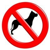 Segno che proibisce i cani Immagini Stock