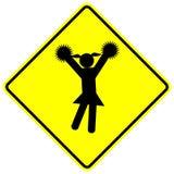 Segno cheerleading di vettore della ragazza della ragazza pon pon Fotografia Stock Libera da Diritti