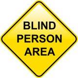 Segno cieco di Person Area Fotografie Stock