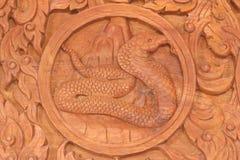 Segno cinese dell'animale dello zodiaco del serpente Immagini Stock