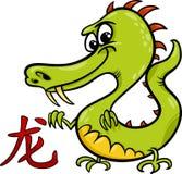 Segno cinese dell'oroscopo dello zodiaco del drago Fotografia Stock Libera da Diritti