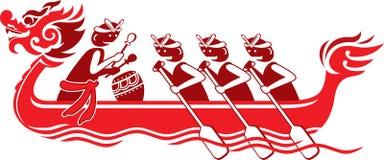 Segno cinese della barca del drago Fotografie Stock