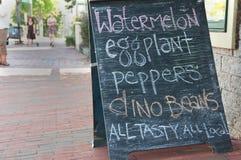 Segno coltivato sul posto degli alimenti Immagine Stock Libera da Diritti