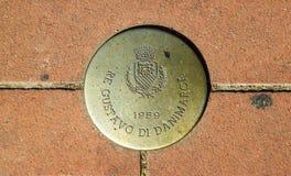 Segno commemorativo 01 di Montecatini Terme Immagini Stock