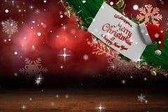 Segno con il Buon Natale sopra  Fotografia Stock Libera da Diritti