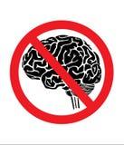 segno con il cervello Fotografia Stock Libera da Diritti