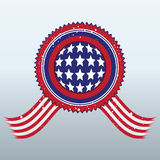 Segno con il simbolo della bandiera americana Illustrazione Vettoriale