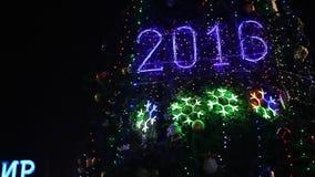 segno 2016 con le luci di natale archivi video