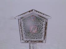 Segno congelato Immagini Stock Libere da Diritti
